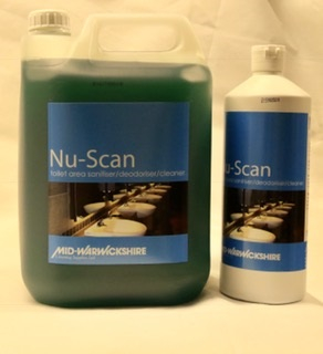 Nu-Scan Toilet Area Sanitiser / Deodoriser Cleaner