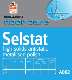 Selstat, Antistatic High Solids Floor Polish (4x5ltr.)