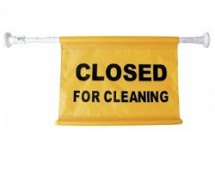 inchClosed for Cleaninginch Hanging Sign