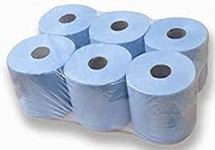 Catering Centre Feed 2ply Blue (6 x 125m)