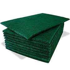 Green Hand Scouring Pads,Heavy Duty,(10)