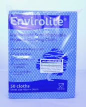 Lightweight Cleaning Cloths Blue (48cm x 36cm) (10 x 50)