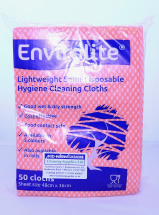 Lightweight Cleaning Cloths Red (48cm x 36cm) (10 x 50)