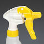 Spray Trigger Head Only,190mm. Dip Tube (Yellow/White)