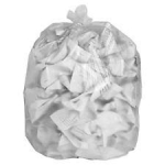 "Clear Polythene Waste Sacks, Medium Duty,18""x29""x39"" (200)"