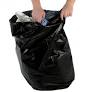 "Black Polythene Waste Sacks, Medium Duty,18""x29""x39"" (200)"