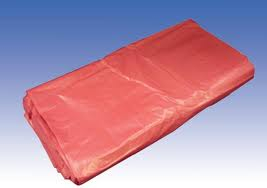 Red Polythene Waste Sacks, Medium Duty,18inchx29inchx39inch(200)